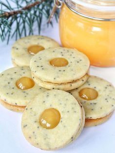 Linecké cukroví s mákem – The Olive Breakfast Biscuits, Breakfast Cookies, Breakfast Recipes, Candy Recipes, Sweet Recipes, Cookie Recipes, Christmas Sweets, Christmas Baking, Cranberry Cookies