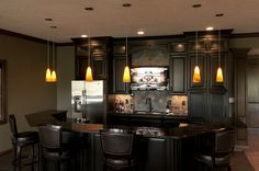 Basement bar. A must have in our next home.