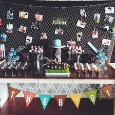 Fishing themed first birthday party