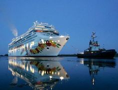 Pride of Hawaii....Christened in 2006.  I was part of original crew on this ship...bringing her over from Meyer Werft shipyard in Germany to Hawaii...Great Memories...:)  Now she is the Norwegian Jade based in Europe.