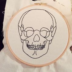 ANATOMIC SKULL Embroidery Pattern | Supply | Patterns | Kollabora