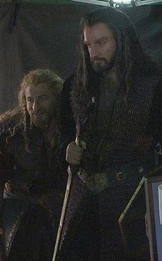 The Hobbit : the Battle of the Five Armies behind the scenes BTS - Richard Armitage  (Thorin) and Dean O'Gorman  (Fili)