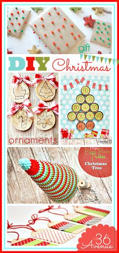 Oh my cuteness! I am in love with these DIY Christmas projects... SUPER CUTE!
