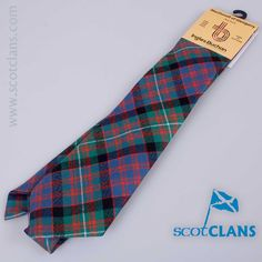 Pure wool tie in MacDonnell of Glengarry Ancient tartan - from ScotClans
