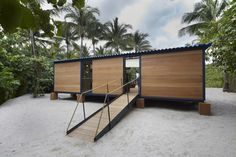Weekend Cabin Feature: Charlotte Perriand House, Florida, 2013 | The house was built in Italy by Vuitton craftsmen, then disassembled and shipped to Florida as a satellite exhibition for an event called Design Miami and rebuilt in the beachside garden of the Raleigh Hotel.