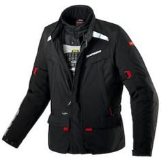 spidi_superhydro_jacket_black_detail Best Deal Dainese Heston Leather Jacket (Color: Dark Brown / Size: 54)