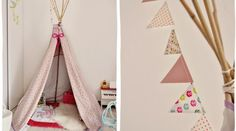 Le tipi de Lily-Rose, c'est que du bonheur! Diy Tipi, Teepee Tent, Little Girl Rooms, Kid Spaces, Kidsroom, Diy For Kids, Baby Love, Kids Bedroom, Room Inspiration