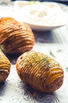 Hasselback Kartoffeln aus dem Backofen - Kaschula