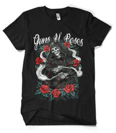 Guns N Roses Band T-Shirt This t-shirt is Made To Order, one by one printed so we can control the quality. Rock Band Tees, Rock T Shirts, Cool Shirts, Band Shirts, Swag Outfits Men, Band Outfits, Slash Guns N Roses, Roses Quotes, Heavy Metal Fashion