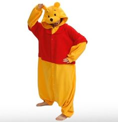 """Japan Sazac Original Disney Winnie the Pooh Onesie Kigurumi Pajamas by Sazac. $77.89. Size: 5'5""""- 5'9"""" or 165-175 cm approx. 