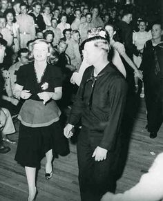 Historic Photograph of Betty Davis On The Dance Floor At The Hollywood Canteen.