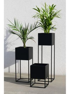 Modern plant pot with stand made of powder coated steel. Each stand is made with high attention to detail and precise welding. Home Room Design, Home Interior Design, Living Room Designs, Living Room Decor, Bedroom Decor, House Design, House Plants Decor, Plant Decor, Indoor Plants