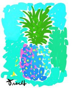 Yah Mon Pineapple Artwork: Beach Decor, Coastal Decor, Nautical Decor, Tropical Decor, Luxury Beach Cottage Decor