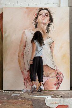 Contemporary figurative artist Philippe Pasqua (b. painting in his art studio Atelier D Art, Portraits, Figure Painting, Art Studios, Urban Art, Artist At Work, Figurative Art, Art Inspo, Art Drawings