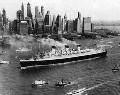 Queen Mary on Maiden Voyage