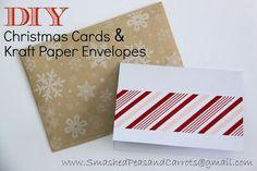 DIY Christmas Cards and Kraft Paper Envelopes