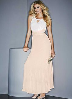 Pleat Detail Maxi Dress