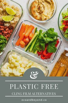 Are you trying to remove all single-use plastic from your life? If yes, awesome! Have you thought about swapping out cling film for something more eco friendly? There are some great substitutes for plastic wrap on the market. They'll have you saying goodbye to cling film – and consuming less plastic – in no time! #plasticfree #zerowaste #ecolifestyle #greenliving Reusable Sandwich Bags, Leftovers Recipes, Plastic Wrap, Food Waste, Food Containers, Sustainable Living, Fresh Herbs, Food Grade, Safe Food