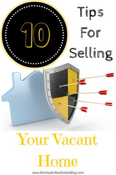 Selling your home, while vacant, can be stressful. Here are 10 tips for selling your vacant home & reduce your stress level while it is listed! http://rochesterrealestateblog.com/10-tips-for-selling-your-vacant-home/