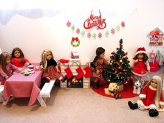 American Girl Dolls : Getting Ready for Christmas | live.life.create.art