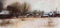 Landscape Winter, Tymoteusz Chliszcz on ArtStation at https://www.artstation.com/artwork/aq248