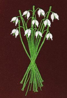 Kytička sněženek (7 cm x 13 cm)