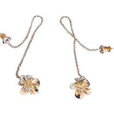 Sterling Silver Flower Pendant Earrings