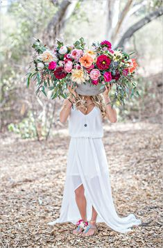 Wild Romance Boho Wedding.  Love this wedding look?  Find high-quality faux flowers and bohemian wedding inspiration at Afloral.com