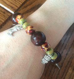 Beaded Charm Bracelet Jewelry, Feather Mermaid Owl Sword Charm Bracelet, Birthday Graduation Teacher Gift For Her, Friendship Boho Bracelet by JellyTreeJewelry on Etsy https://www.etsy.com/ca/listing/532076173/beaded-charm-bracelet-jewelry-feather