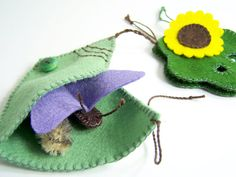 Butterfly Life Cycle Playset from natural materials by MuddyFeet