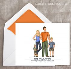 Custom Illustrated Stationery - Nicole Sullivan | Ashley Brooke Designs