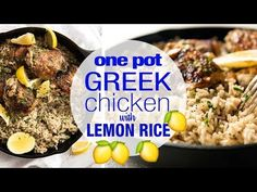 One Pot Greek Chicken & Lemon Rice | RecipeTin Eats