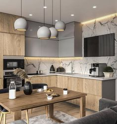 Kitchen Interior Design Unbeatable two tone kitchen cabinets wood and white Two Tone Kitchen Cabinets, Contemporary Kitchen Cabinets, Modern Kitchen Interiors, Kitchen Cabinet Colors, Painting Kitchen Cabinets, Kitchen Paint, Modern Kitchens, Kitchen Counters, Small Kitchens