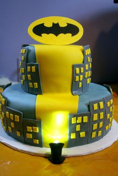 Birthday cake!!!  So cool for a boy or girl who loves super heros!