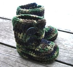 Ravelry: Button Loop Booties - Infant Sizes pattern by Crochet by Jennifer
