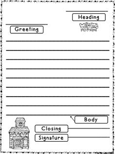 Friendly Letter Templates Back To School Version 4th Grade Writingkindergarten