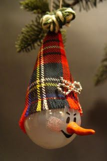 #Recycle lightbulbs into Christmas ornaments!