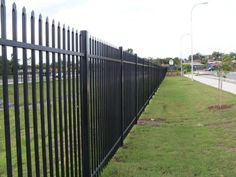 Security fencing is built to keep people both in and out of an area. Security fencing can be built with a number of materials to suit your desired style. Security Fencing, Fence, Sidewalk, School, Building, Outdoor Decor, Side Walkway, Buildings, Walkway