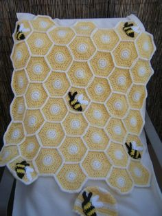Sweet As Honey Crochet Blanket