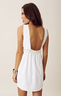 Dress, dress, dress | Love the back... would love to find a picture of the front side! | Simple White Dress