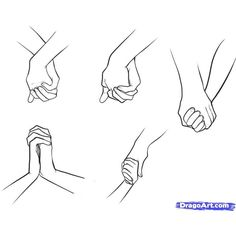 How to Draw Holding Hands, Step by Step, Hands, People, FREE Online Drawing Tutorial, Added by Dawn, January 13, 2011, 10:15:15 pm found on Polyvore