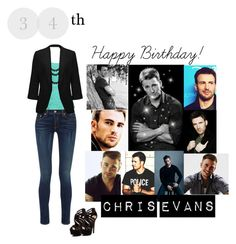 """""""Happy Birthday, Chris Evans"""" by fashionista-jaygee ❤ liked on Polyvore featuring Thalia Sodi, Bling Jewelry, rag & bone, Forever New and Red Circle"""