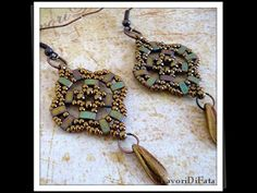 Video Tutorial: Earrings with Half Tilas, a diy craft post from the blog Linda's Crafty Inspirations on Bloglovin'