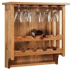 Mission Wall Mount Wine Rack