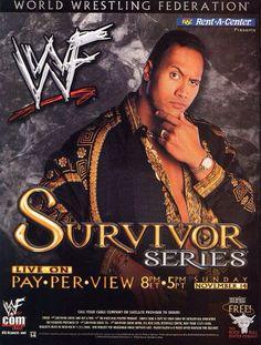 Survivor Series 1999 The Rock Dwayne Johnson, Dwayne The Rock, The Fabulous Moolah, Wwe Events, Wwe Ppv, Wwe Survivor Series, Joe Louis Arena, Wwe The Rock, Lucha Libre