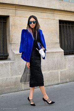 royal blue + black +