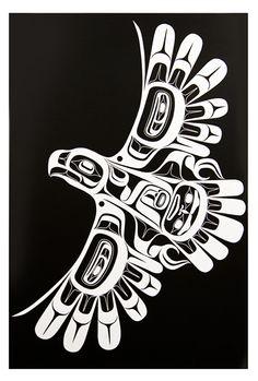 Contemporary Indigenous Art Gallery specializing in fine art from the Northwest Coast of Canada Haida Kunst, Inuit Kunst, Arte Haida, Haida Art, Inuit Art, Native American Totem, Native American Symbols, Native American Design, Native Design