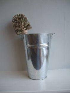 Toilet Brush & Galvanised Bucket