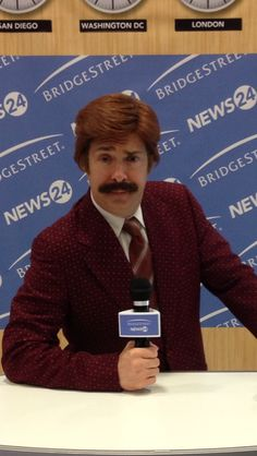 A Ron Burgundy impersonator brings hilarity to your booth at the next Trade Show.  Laughter is the best medicine!