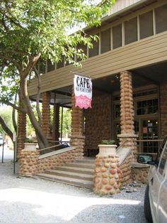 Favorite Places - No joke, their steaks hung off of the paltes. Old Plantation Cafe in Medicine Park, Oklahoma